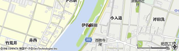 愛知県西尾市一色町大塚(伊佐新田)周辺の地図