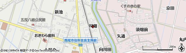 愛知県西尾市吉良町荻原(川畑)周辺の地図