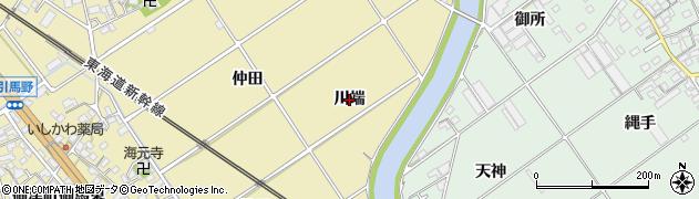愛知県豊川市御津町御馬(川端)周辺の地図