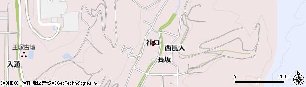 愛知県西尾市鳥羽町(社口)周辺の地図