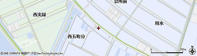 愛知県西尾市一色町小薮(会所前下)周辺の地図