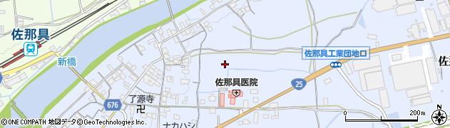 三重県伊賀市佐那具町周辺の地図