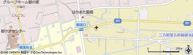 静岡県浜松市北区三幸町周辺の地図