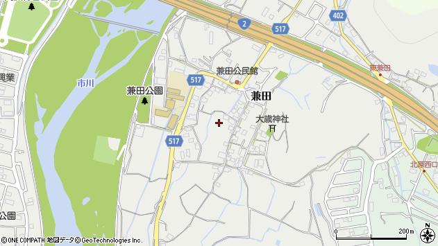 〒672-8001 兵庫県姫路市兼田の地図