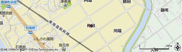 愛知県豊川市御津町御馬(仲田)周辺の地図