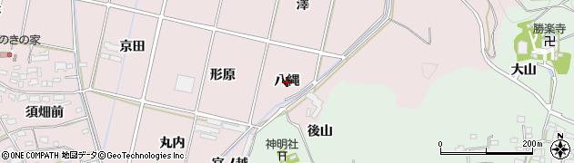 愛知県西尾市吉良町饗庭(八縄)周辺の地図