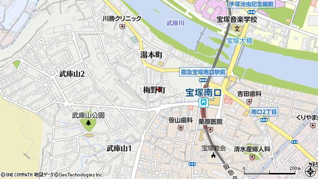 〒665-0004 兵庫県宝塚市梅野町の地図