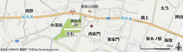 愛知県豊橋市石巻本町(西家門)周辺の地図