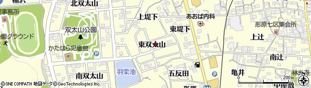愛知県蒲郡市形原町(東双太山)周辺の地図