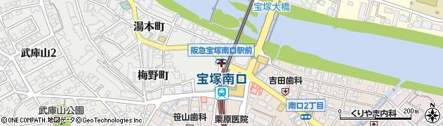 阪急宝塚南口駅前周辺の地図