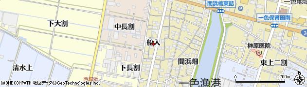 愛知県西尾市一色町一色(船入)周辺の地図