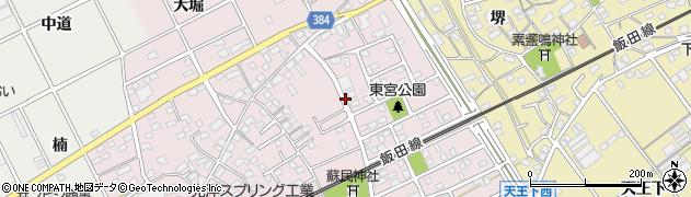 愛知県豊川市篠束町周辺の地図