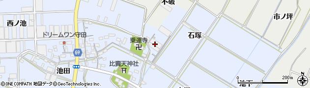 愛知県豊橋市下条東町(石塚)周辺の地図