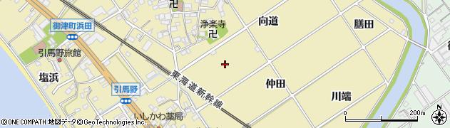 愛知県豊川市御津町御馬周辺の地図