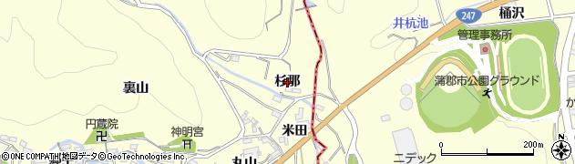 愛知県西尾市東幡豆町(杉那)周辺の地図