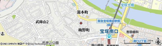 宝塚ロジュマン南口周辺の地図