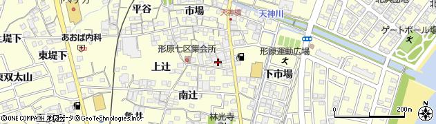 愛知県蒲郡市形原町(北辻)周辺の地図