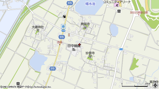 〒675-0047 兵庫県加古川市西神吉町鼎の地図