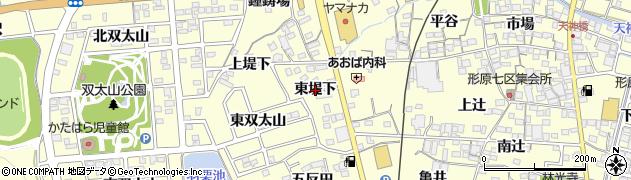 愛知県蒲郡市形原町(東堤下)周辺の地図
