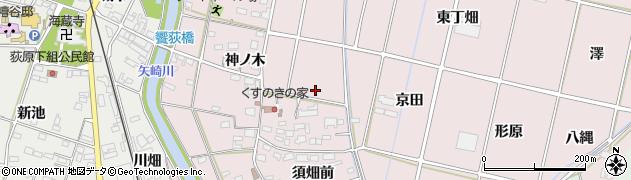 愛知県西尾市吉良町饗庭(下佃)周辺の地図