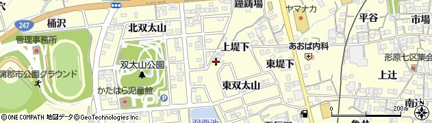 愛知県蒲郡市形原町(双太山)周辺の地図