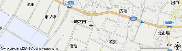 愛知県豊橋市石巻本町(城之内)周辺の地図