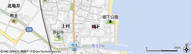 愛知県美浜町(知多郡)布土(郷下)周辺の地図