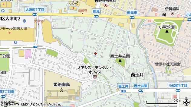 〒671-1141 兵庫県姫路市大津区西土井の地図