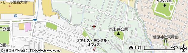 兵庫県姫路市大津区(西土井)周辺の地図