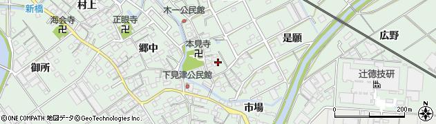 愛知県豊川市御津町下佐脇(花ノ木)周辺の地図
