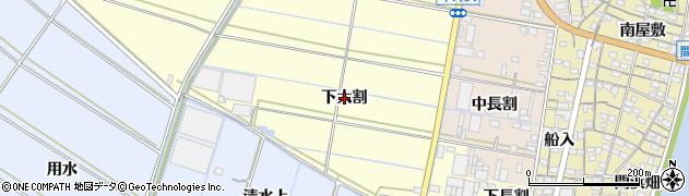 愛知県西尾市一色町中外沢(下大割)周辺の地図