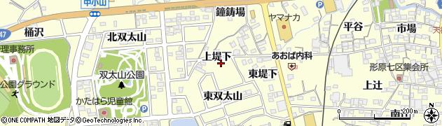 愛知県蒲郡市形原町(上堤下)周辺の地図