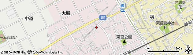 愛知県豊川市篠束町(西宮)周辺の地図