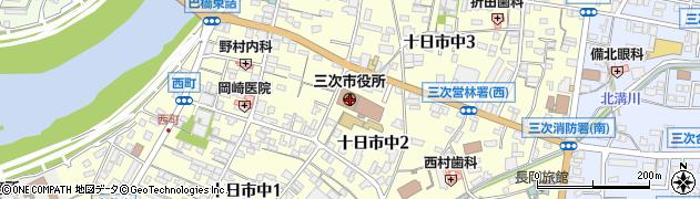 広島県三次市周辺の地図