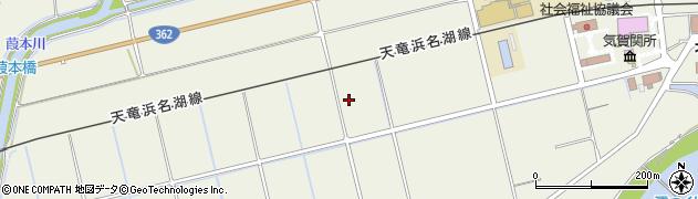 静岡県浜松市北区細江町気賀周辺の地図