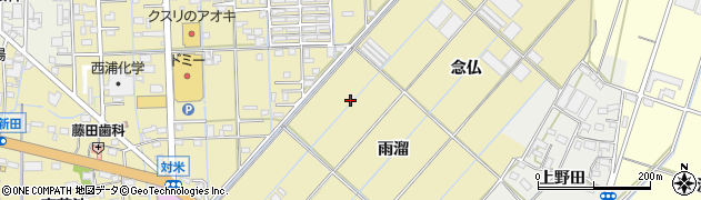 愛知県西尾市一色町対米周辺の地図