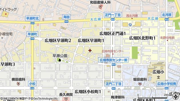 〒671-1151 兵庫県姫路市広畑区早瀬町の地図