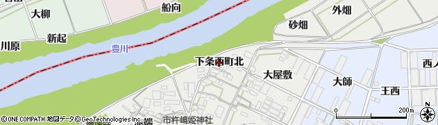 愛知県豊橋市下条西町(北)周辺の地図