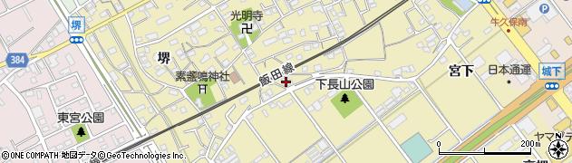 愛知県豊川市下長山町(天王下)周辺の地図