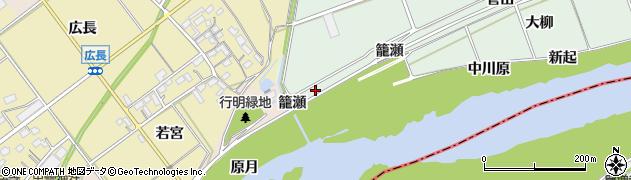愛知県豊川市院之子町(古川)周辺の地図