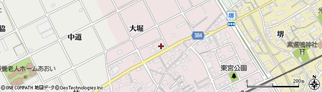愛知県豊川市篠束町(大堀)周辺の地図