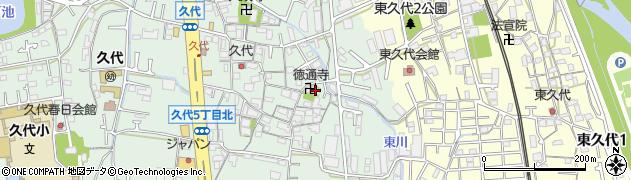 徳通寺周辺の地図