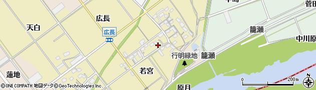 愛知県豊川市柑子町周辺の地図