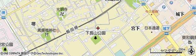 愛知県豊川市下長山町(岩下)周辺の地図