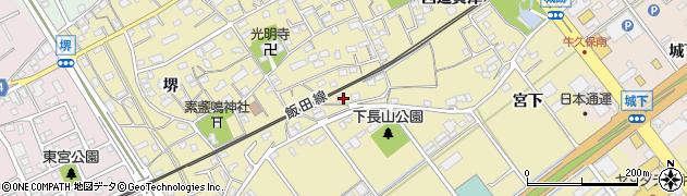 愛知県豊川市下長山町周辺の地図
