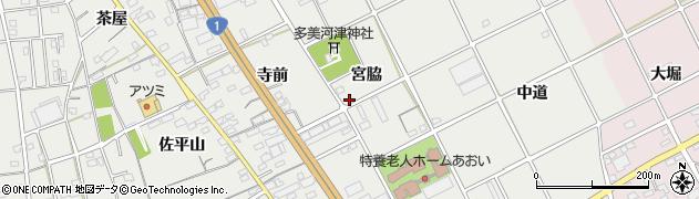 愛知県豊川市宿町(宮脇)周辺の地図