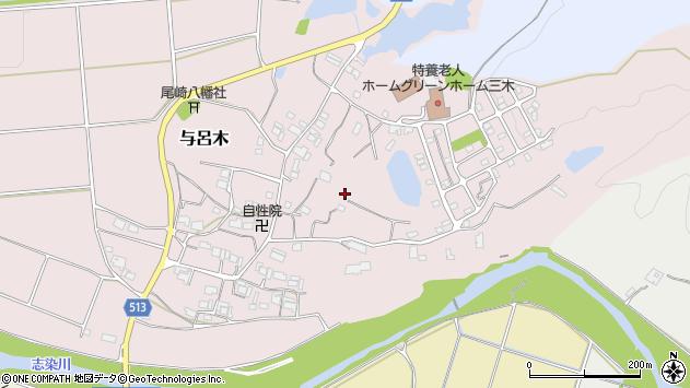 〒673-0422 兵庫県三木市与呂木の地図