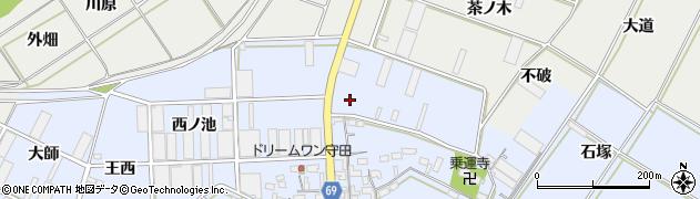 愛知県豊橋市下条東町(木戸口)周辺の地図