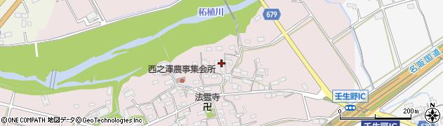 三重県伊賀市西之澤周辺の地図
