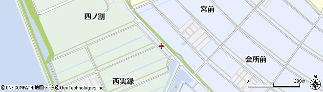 愛知県西尾市一色町小薮(宮前下)周辺の地図